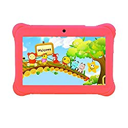 Tagital 7″ T7K Quad Core Android Kids Tablet, with Wifi and Camera and Games, HD Kids Edition with Kid Mode Pre-Installed (Pink)