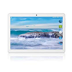 Tablet 10 inch Android 8.1 Go,3G Unlocked Phablet with Dual sim Card Slots and Cameras,Tablet PC with WiFi,Bluetooth,GPS (10 inch Android 8.1, Silver)