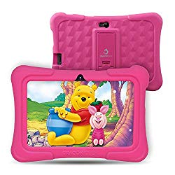 Upgraded – Dragon Touch Y88X Pro 7 inch Kids Tablet, 2GB RAM 16GB Android 9.0 Tablets, Kidoz Pre-Installed with All-New Disney Content WiFi Only – 2019 New Model – Pink