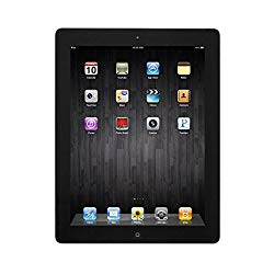 Apple iPad 4 16GB 9.7in Retina Display WiFi Bluetooth & Camera – Black – 4th Gen (Renewed)