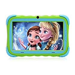 Kids Tablet – Android 7.1 Tablet PC with 7 inch IPS Eye Protection Screen 1GB+16GB WiFi Camera and Bluetooth GMS Certified Kids-Proof Children Tablets (Green)