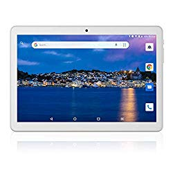 Tablet 10 inch Android 8.1 Oreo Go Edition,Google Certified, 10.1″ 3G/WiFi Tablets with Dual Sim Card Slots and Carmera,6000mAh Battery,Quad-Core Processor,16GB, Bluetooth,GPS