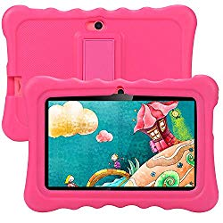 Kids Tablet, Tagital T7K Plus 7 Inch Android 9.0 Tablet for Kids, 1GB +16GB, Kid Mode Pre-Installed, WiFi Android Tablet, Kid-Proof Case (Pink)