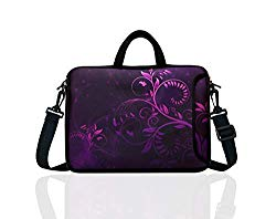 10-Inch Laptop Shoulder Bag Sleeve Case with padded handle for 9.6″ 9.7″ 10″ 10.1″ 10.5″ Ipad/Netbook/Tablet/Reader (Purple)