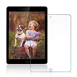 [2 Pack] ZoneFoker New iPad 7th Generation Screen Protector (10.2-inch,2019 Releases), [Anti-Scratch][Easy Installation][Bubble Free] Tempered Glass for iPad 10.2 inch-7 Gen (Clear)