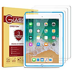 [3 Pack] iPad 9.7 6th Generation Screen Protector, OMOTON Tempered Glass Screen Protector for Apple iPad 9.7″ (2018 & 2017) / iPad Pro 9.7 Inch / iPad Air 2 / iPad Air 9.7 Inch