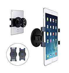 AboveTEK iPad Wall Mount, Swivel 360° Rotating Tablet Holder w/Two Brackets to Fit 6-13″ Tablets, Horizontal/Vertical Tilt iPad Arm for Flexible Viewing Angles in Kitchen House Showroom Retail Store