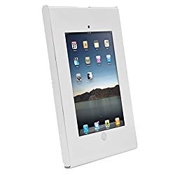 Anti-Theft Tablet Security Case Holder – Metal Heavy Duty Vesa Wall Mount Tablet Kiosk, Mounts on Surface, Landscape/Portrait Mounting, Designed for iPad 2, 3, 4, Air, Air 2 Tablets – Pyle PSPADLKW06
