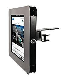 Arkon iPad Shelf Clamp Mount with Key Lock for iPad 4 3 2 iPad Air 2 – Black