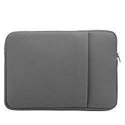 ASHATA Computer Bag for 13 Inch Computers, T Cloth + Memory Foam Ultra-Thin Computer Bag, with Smooth Zipper Design and Side Pack for Tablets,Mobile Phones, Pens,etc(Gray)