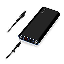 BatPower ProE 2 ES10B 148Wh MS Surface External Battery for Surface Book 2 1 Laptop 3 2 1 Power Bank Surface Pro X 7 6 5 4 3 2 RT Go Portable Charger, USB QC 3.0 Quick Charge for Tablet or Smartphone