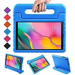 BMOUO Kids Case for Samsung Galaxy Tab A 10.1 (2019) SM-T510/T515, Shockproof Light Weight Protective Handle Stand Kids Case for Galaxy Tab A 10.1 Inch 2019 Release SM-T510/T515 – Blue