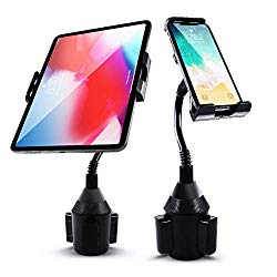 Car Cup Holder Tablet Phone Mount Jestar Universal Cell Phone Holder for iPhone XS Max XR Samsung S10 S10E S9 Plus S8 Apple iPhone iPad Pro Air Mini Samsung Galaxy Tab All Smartphones 7″-11″ Tablets