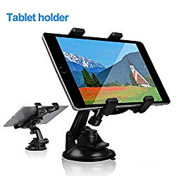 Car Tablet iPad Holder Mount, Suction Cup Tablet Holder Stand for Car Windshield Dash Desk Kitchen Wall Compatible with iPad Mini Air Samsung Galaxy Tab A S Series All 7-10 inches Tablet