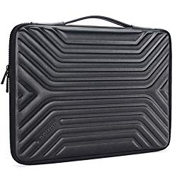 DOMISO 15.6 Inch Shockproof Waterproof Laptop Sleeve with Handle Lightweight Soft EVA Tablet Case for 15.6″ Laptops / Apple / Lenovo IdeaPad / Acer Aspire E15 / HP Envy 15 / Dell / ASUS , Black