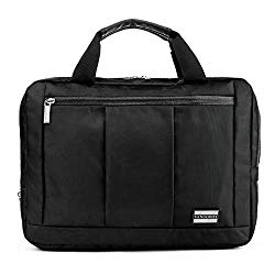 El Prado 3 in 1 Messenger Bag and Backpack for HP X2 210, Chromebook 11 G5, Pavilion X2, Tablets up to 11.5 inches (Black)