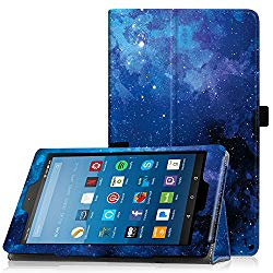 Famavala Folio Case Cover Compatible with 8″ Fire HD 8 Tablet [8th Generation 2018 / 7th Generation 2017 ] (BlueSky)