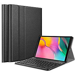 Fintie Keyboard Case for Samsung Galaxy Tab A 10.1 2019 Model SM-T510(Wi-Fi) SM-T515(LTE) SM-T517(Sprint), Slim Shell Lightweight Stand Cover with Detachable Wireless Bluetooth Keyboard, Black