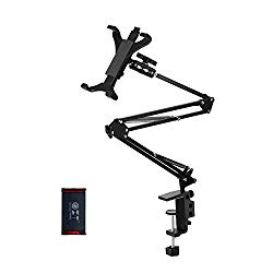 Foldable Phone Tablet Mount Holder – Aluminum Universal Flexible Tablet Bracket Mount Holder Adjustable and Compatible with 4-13 Inches Smartphones Tablets iPad/iPad Air/iPad Pro/Nintendo Switch
