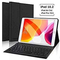 iPad 10.2 inch (7th Generation) 2019 / iPad Pro 10.5 inch/iPad Air 3 2019 Keyboard Case, Auto Sleep Wake Case with Magnetically Detachable Wireless Keyboard (Black)