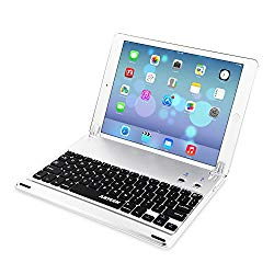 iPad 9.7-inch (iPad 6, 2018 / iPad 5, 2017) Keyboard, Arteck Ultra-Thin Bluetooth Keyboard Folio Case with Stand Groove for Apple iPad 9.7 iPad 6, iPad 5 and iPad Air 1 with 130 Degree Swivel Rotating