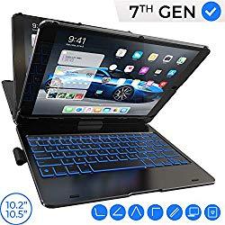 iPad Keyboard Case for iPad 10.2 2019, iPad Air 10.5 2019, iPad Pro 10.5 2017 – Backlit – 360 Rotatable – Wireless – iPad 7th Generation Case with Keyboard – iPad Air 3rd Generation – Tablet Case