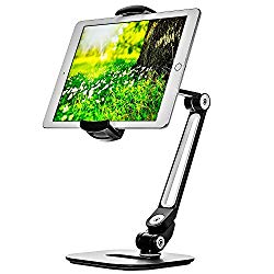 Ipad Stand – Adjustable Tablet Holder for 6 to 13 inches Tablets and Phones for The Table, Desk, Kitchen, Office – by Bontend