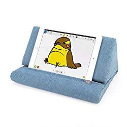 IPEVO PadPillow Stand for iPad Air & iPad 4/3/2/1Nexus/Galaxy – Blue Denim (MEPX-07IP)