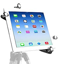 iShot G7 Pro Tripod Mount for iPad,Upgraded Universal Heavy Duty All Metal Frame iPad Tripod Mount Adapter,iPad Holder for Tripod Fits iPad Pro 10.5 inch,9.7,mini,Air,iPad 23456 With Or Without A Case
