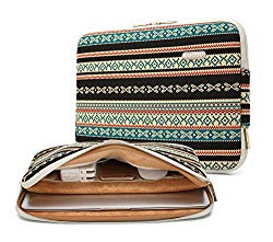 Kayond Canvas Water-Resistant 13 inch Laptop Sleeve -13 inch 13.3 inch Laptop case,12.9 inch Tablet Case Compatible MacBook(13-13.3 inches, New Bohemian)