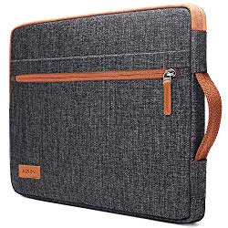 KIZUNA Laptop Tablet Sleeve 10 Inch Water-Resistant Computer Hand Bag for 9.7″ 10.5″ 11″ iPad Pro/10.5″ iPad Air/10 Microsoft Surface Go/10.5″ Samsung Galaxy Tab/10.8″ Huawei MediaPad M5 Pro, Brown