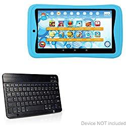Kurio Next Keyboard, BoxWave [SlimKeys Bluetooth Keyboard] Portable Keyboard with Integrated Commands for Kurio Next – Jet Black
