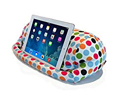 Lap PRO – Stand/Caddy, Universal Beanbag Lap Stand for iPad Pro, iPad Air,1,2,3 & All Tablets, E-Readers, Books & Magazines – Bed, Couch, Travel – Adjustable Angle; 0-89 deg. (Polkadot)