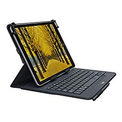 Logitech Universal Folio with Integrated Bluetooth 3.0 Keyboard for 9-10″ Apple, Android, Windows Tablets – Compatible with Models Listed