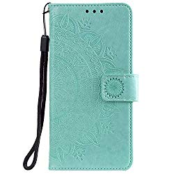 Lomogo OnePlus 7 / 6T Case Leather Wallet Case with Kickstand Card Holder Shockproof Flip Case Cover for OnePlus7 / Oneplus6T – LOHHA080313 Green