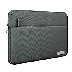 MoKo 11 Inch Tablet Sleeve Case Fits iPad 10.2 2019, iPad Pro 11 2018, iPad Air 3 10.5, iPad Pro 10.5/9.7″, Surface Go, Galaxy Tab 10.1 Polyester Bag with Pocket, Fit Apple Smart Keyboard – Dark Gray