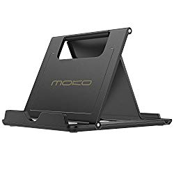 MoKo Phone/Tablet Stand, Foldable Desktop Holder for Devices(6-11″) Fit iPhone 11 Pro Max/11 Pro/11, iPad 10.2″ 2019, iPhone Xs/Xs Max/Xr/X, iPad Air 3, Mini 5, Galaxy Note 10 Plus, Black(Large Size)
