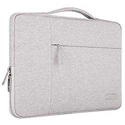 MOSISO Tablet Sleeve Compatible with 9.7-11 inch iPad Pro, iPad 7 10.2 2019, iPad Air 3 10.5, iPad Pro 10.5, Surface Go 2018, iPad 1/2/3/4/5/6, Polyester Multifunctional Carrying Bag Case Cover, Gray