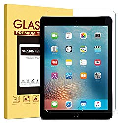 New iPad 9.7″ (2018 & 2017) / iPad Pro 9.7 / iPad Air 2 / iPad Air Screen Protector, SPARIN Tempered Glass Screen Protector – Apple Pencil Compatible / High Definition / Scratch Resistant