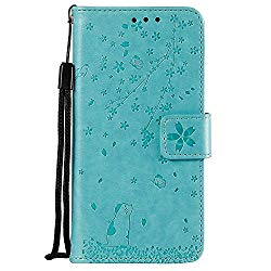 NEXCURIO Wallet Case for Galaxy A6 (2018) with Card Holder Side Pocket Kickstand, Shockproof Leather Flip Cover Case for Samsung Galaxy A6 2018 – NEHHA130116 Green