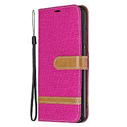 NEXCURIO Wallet Case for Xiaomi Redmi Note 8 with Card Holder Side Pocket Kickstand, Shockproof Leather Flip Cover Case for Xiaomi Redmi Note8 – NEBFE020340 Hot Pink