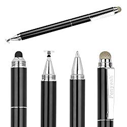 Penyeah Capacitive Stylus Pen with Ballpoint Pen Writing,[4-in-1] Multifunction Stylus pens for Touch Screens,Stylus for Ipad,Apple,iPhone,Ipad pro,Mini,Laptops with 4 Replacement Tips -Black