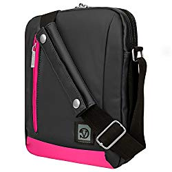 Pink Anti-Theft Travel Crossbody Tablet Carrying Bag for Amazon Kindle, Paperwhite, Oasis