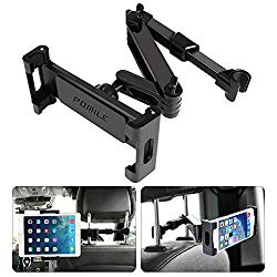 POMILE Car Headrest Tablet Mount – Stretchable Tablet Headrest Holder – Car Backseat Seat Mount for All 4.6in – 12.9in Compatible with Pad Mini Pro Air, Nintendo Switch, Samsung Galaxy Tabs