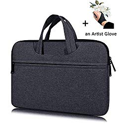 Portable Drawing Tablet Monitor Carrying Bag Case Protective Sleeve for Huion KAMVAS Pro 13 GT-133,GT-116, Huion Q11K V2, Wacom Cintiq 13HD, Xp-Pen Artist12 (Space Gray)