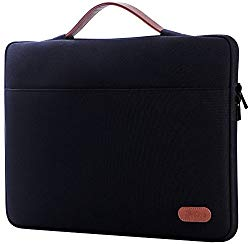 ProCase 12-12.9 inch Sleeve Case Bag for Surface Pro X 2017/Pro 7 6 4 3, MacBook Pro 13, iPad Pro Protective Carrying Cover Handbag for 11″ 12″ Lenovo Dell Toshiba HP ASUS Acer Chromebook -Black