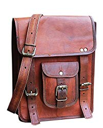 RK 11 x 9 inch Vintage genuine vintage leather ipad/tablet/tab/kindle satchel crossbody shoulder messenger bag