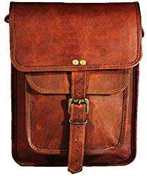 Satchel and Fable Leather I Pad Messenger Tablet Cross Body Shoulder Bag 11 Inch