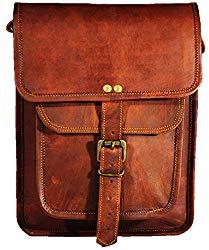 Satchel and Fable Leather I Pad Messenger Tablet Cross Body Shoulder Bag 11 Inch