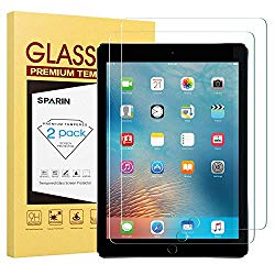 SPARIN [2 Pack] New iPad 9.7″ (2018 & 2017) / iPad Pro 9.7 Screen Protector, Tempered Glass Screen Protector – Apple Pencil Compatible/High Definition/Scratch Resistant